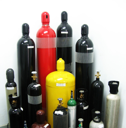 Bottles for technical gases